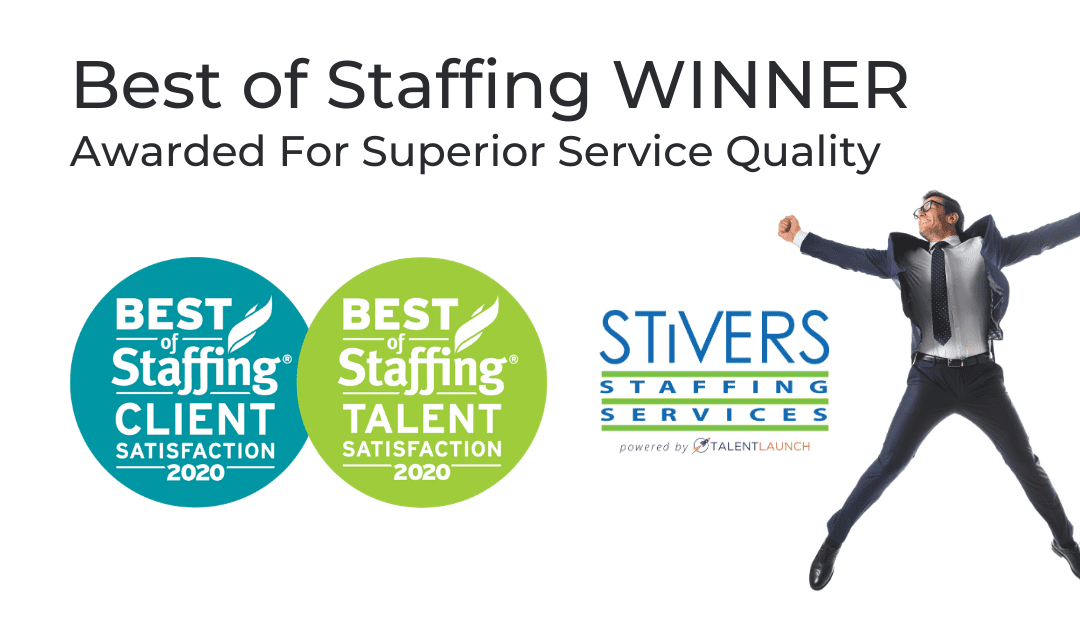 Stivers Wins ClearlyRated's 2020 Best of Staffing Client and Talent Awards
