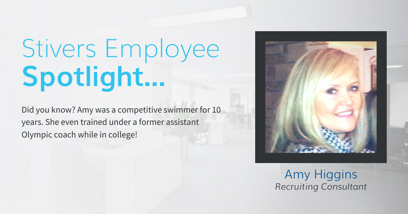 Recruiting Consultant Amy Higgins always has a smile on her face when helping candidates find the perfect jobs.