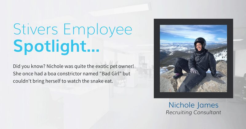 Nichole is a Recruiting Consultant at our Stivers Denver office